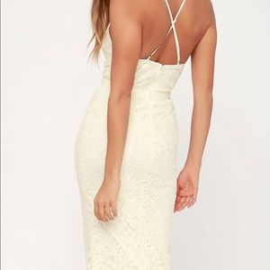 Lulu's Dresses - Lulu's Zenith Cream Lace Maxi Dress